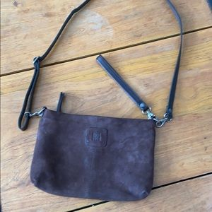 BIBA Suede/Leather Small Crossbody